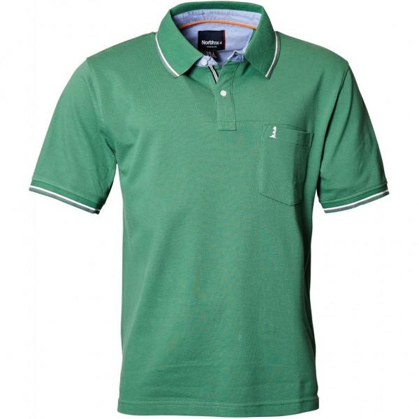 I LOVE TALL North 56°4 Poloshirt kurzarm extra lang Langgrösse grün