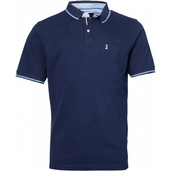 I LOVE TALL Poloshirt kurzarm in Langgrösse, navy blau
