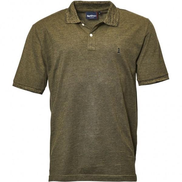 I LOVE TALL North 56°4 Polo T-shirt kurzarm extra lang Langgrösse oliv grün